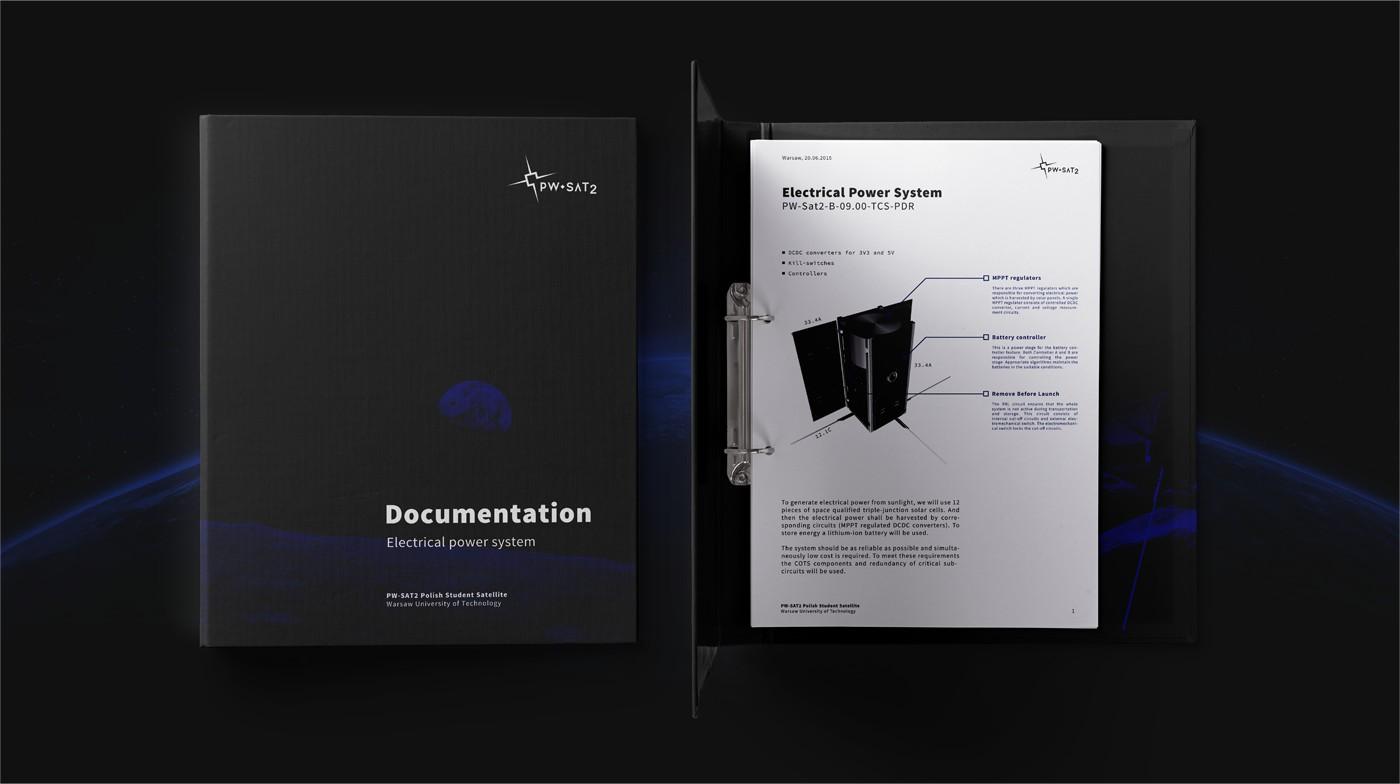 Projekt akcydensów identyfikacji wizualnej PW-Sat 2