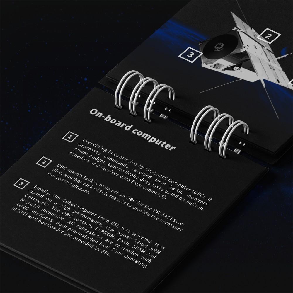 Materiały drukowane - branding PW-Sat 2