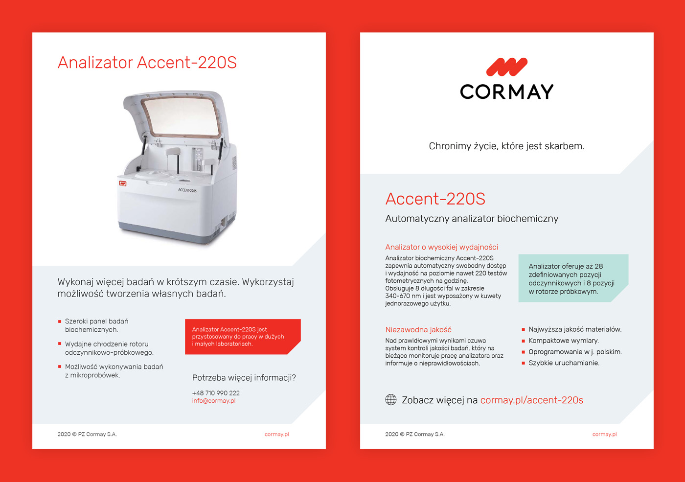 Identyfikacja wizualna Cormay - ulotka dwustronna